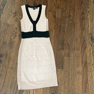 French Connection sheath skinny dress pale pink